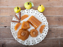Fresh Quince Gelatin Dessert Royalty Free Stock Photography
