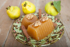 Fresh Quince And Quince Gelatin Dessert Royalty Free Stock Images