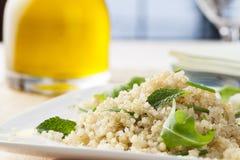 Fresh Quinoa Salad. With herbs and arugula Royalty Free Stock Photos