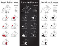 FRESH RABBIT cuts parts diagram - info-grapic Stock Photography