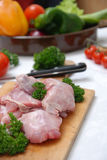 Fresh rabbit meat Stock Photos