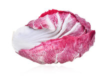 Fresh radicchio red salad isolated on white background Stock Photography
