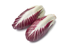 Fresh Radicchio rosso. On white background Royalty Free Stock Photos