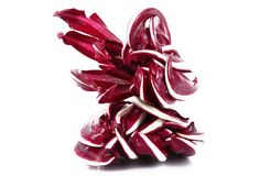 Fresh radicchio salad on white background. A fresh radicchio salad on white background Stock Photos