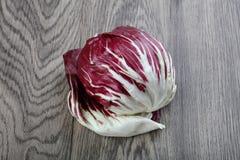 Radicchio salad. Fresh Radicchio salad on the wood background Stock Images