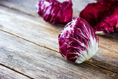 Fresh Radicchio. Salad on  wooden background Royalty Free Stock Photography