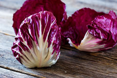 Fresh Radicchio. Salad on  wooden background Stock Image