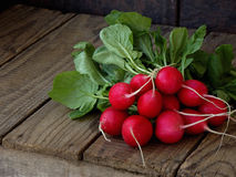 Fresh radish flat lay. Top view royalty free stock image
