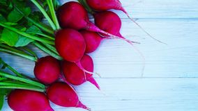 Fresh radish from the garden. Fresh radish from the garden on a wooden background Stock Image