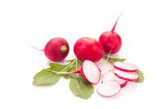 Fresh radish isolated. On white bacground. Natural food Royalty Free Stock Photo