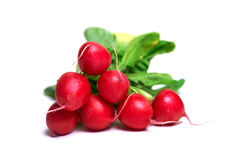 Fresh radish. Over white background Royalty Free Stock Photography