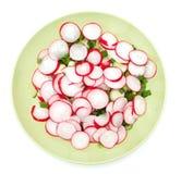 Fresh radish salad. On white background Royalty Free Stock Photo
