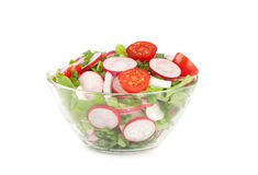 Fresh radish salad. In a bowl Royalty Free Stock Photos