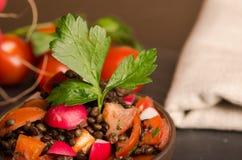 Fresh radish salad with green italian parsley. Vegetarian and Vegan Royalty Free Stock Photo