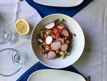 Fresh Radish Salad served at Restaurant. Organic Food Stock Images
