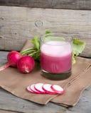 Fresh radish smoothy juice Stock Photo