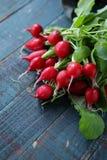 Fresh radish on table. Food close-up Stock Photo