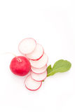 Fresh radish. On white bacground. Natural food Royalty Free Stock Images