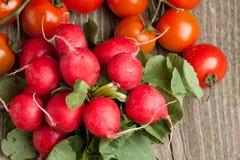 Fresh Radishes And Tomato Royalty Free Stock Image
