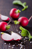 Fresh Radishes closeup Stock Photos