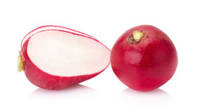 Fresh radishes on white background.  Stock Photos