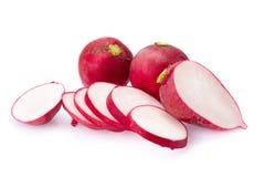 Fresh radishes on white background.  Royalty Free Stock Image