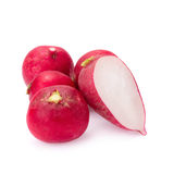 Fresh radishes on white background.  Stock Image