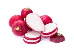 Fresh radishes on white background.  Royalty Free Stock Images