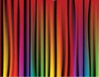Fresh rainbow curtain Royalty Free Stock Photos