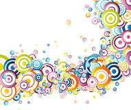 Fresh rainbow wave. Clip-art Stock Image