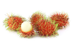 Fresh rambutan. Sweet delicious fruit of Thailand Royalty Free Stock Photo