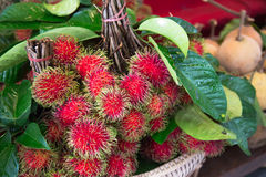 Fresh Rambutan Stock Photography