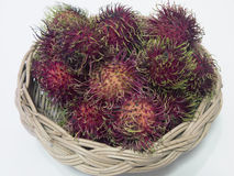Fresh Rambutan in basket. Sweet,  fruit, thailand Stock Images