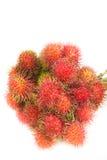 Fresh rambutan. Bunch of rambutan asian fruit on white background Stock Photo