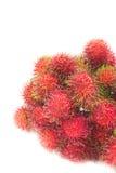 Fresh rambutan. Bunch of rambutan asian fruit on white background Stock Photography