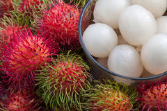 Fresh rambutan. Close up fresh rambutan fruit Royalty Free Stock Photo