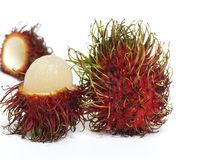 Fresh Rambutan Fruit Stock Images