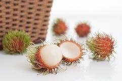 Fresh rambutan fruit Royalty Free Stock Images