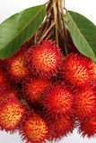 Fresh rambutan. Rambutan is a fruit with sweet red shell Stock Photography