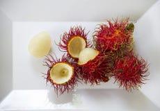 Fresh Rambutan fruit. Stock Photo