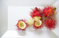Fresh Rambutan fruit. Stock Photos