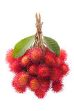 Fresh rambutan fruit. On white background Royalty Free Stock Images