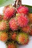 Fresh rambutan fruit. On white background Royalty Free Stock Photo