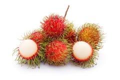 Fresh rambutan fruit. On white background Royalty Free Stock Photos