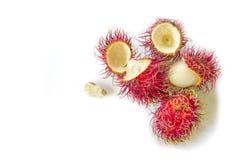 Fresh rambutan fruit. Fresh rambutan fruit on white background Stock Image