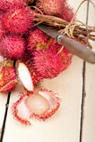 Fresh rambutan fruits Stock Photos