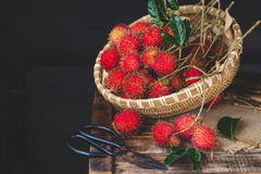 Fresh Rambutan Fruits. From Vietnam Stock Photos