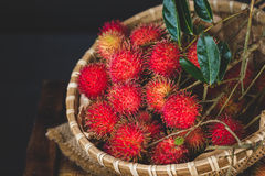 Fresh Rambutan Fruits. From Vietnam Royalty Free Stock Photo
