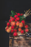 Fresh Rambutan Fruits. From Vietnam Royalty Free Stock Photos