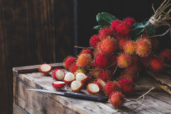 Fresh Rambutan Fruits. From Vietnam Stock Images